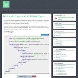 WPF MultiTrigger and MultiDataTrigger - The complete WPF tutorial