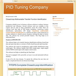 PID Tuning Company : Closed-loop Multivariable Transfer Function Identification