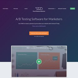 Visual Website Optimizer - A/B Testing Tool | Split Testing and Multivariate Testing Software