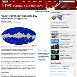 'Multiverse' theory suggested by microwave background