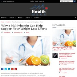 Why a Multivitamin Can Help Support Your Weight Loss Efforts