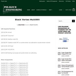 Black Vortex MultiWii 2.0 « PolakiumEngineering