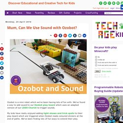Mum, Can We Use Sound with Ozobot?