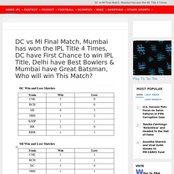 Know Sports News Today Ipl