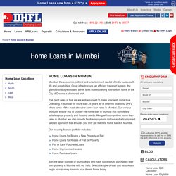 Home Loans in Mumbai, Housing Finance Company in Mumbai - DHFL