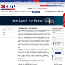 Home Loans in Navi Mumbai, Housing Finance Company in Navi Mumbai - DHFL
