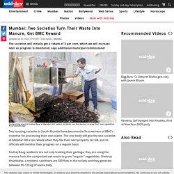 Mumbai Two societies turn their waste into manure get BMC reward-news