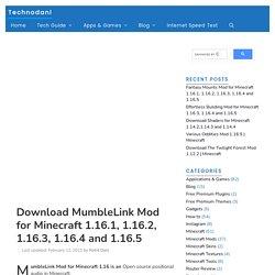 Download MumbleLink Mod For Minecraft 1.16.1, 1.16.2, 1.16.3, 1.16.4 And 1.16.5 - Technodani