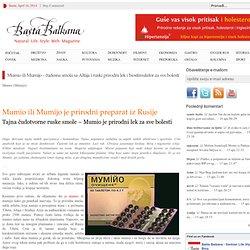 Bašta Balkana Blog » Blog Archive » Mumio – čudesna smola sa Altaja