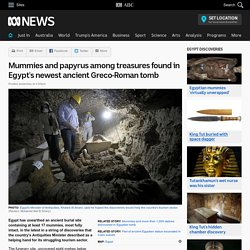Mummies and papyrus among treasures found in Egypt's newest ancient Greco-Roman tomb
