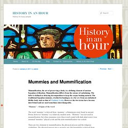 Mummies and Mummification