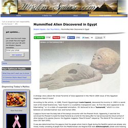 Mummified Alien Discovered in Egypt