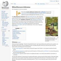 Münchhausen Trilemma
