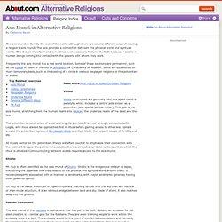 Axis Mundi in Alternative Religions