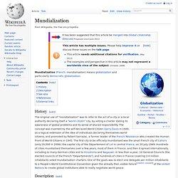 Mundialization