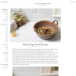 Mung Yoga Bowl Recipe