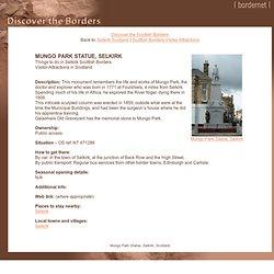 Mungo Park Statue, Selkirk, Scotland