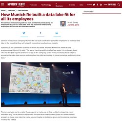 How Munich Re built a data lake fit for all its employees