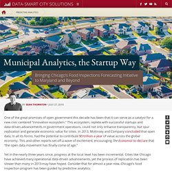 Municipal Analytics, the Startup Way