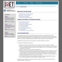 Institut Municipal d'Educació i Treball - L'Autocandidatura