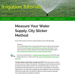 How to Find Your GPM & PSI – Municipal Water Source