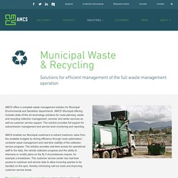 Municipal Waste and Recycling Management Software - AMCS Group