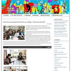 Parcours citoyen - Une élue municipale de Tarnos au collège : l'interview des 6D