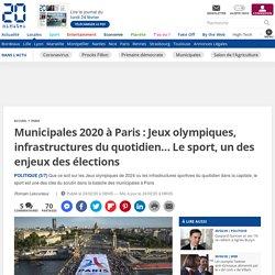 Municipales 2020 à Paris : Jeux olympiques, infrastructures du quotidien… Le sport, un des enjeux des élections