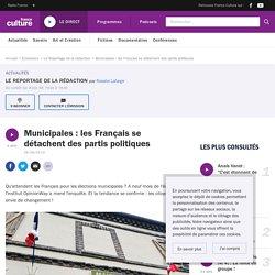 Municipales : les Français se détachent des partis politiques