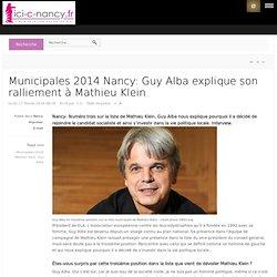 Guy Alba explique son ralliement à Mathieu Klein