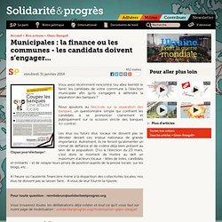 Municipales : la finance ou les communes - les candidats