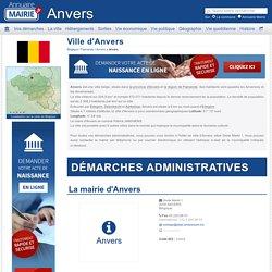 Ville d'Anvers, la Municipalité d'Anvers et tout son territoire, Flamande en Belgique