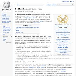 Wikipedia - De munitionibus castrorum