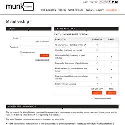 Munk Debates - Membership