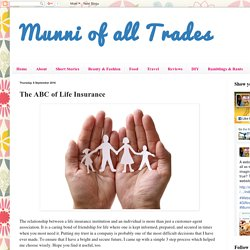Munni of all Trades: The ABC of Life Insurance