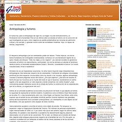 Antropología y turismo.