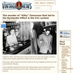 """The murder of """"Kitty"""" Genovese that led to the Bystander Effect & the 911 system"""