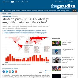 Murdered journalists: 90% of killers get away with it but who are the victims?