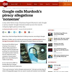 Google calls Murdoch's piracy allegations 'nonsense'