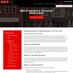 Murfreesboro Divorce Lawyers