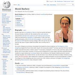 Muriel Barbery - Wikipedia