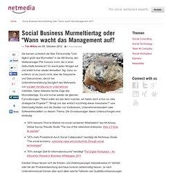 """Social Business Murmeltiertag oder """"Wann wacht das Management auf?"""""""