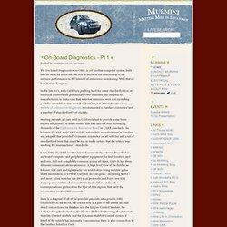 MINI Cooper Blog : On-Board Diagnostics - Pt 1