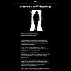 Murmurs and Whisperings