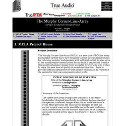 The Murphy Corner-Line-Array Home Page