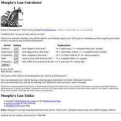 Murphy's Law Calculator