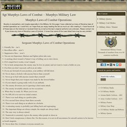 Murphys Law of Combat Operations. Murphy's Military Law.