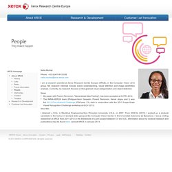 Naila Murray / People / About XRCE / Xerox Research Centre Europe - XRCE
