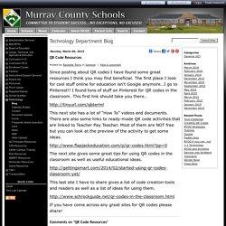 Murray County Schools - QR Code Resources