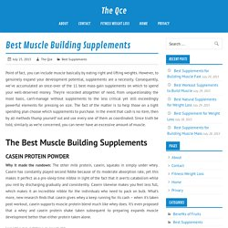 Best supplements for muscle building, physique, weight loss, and overall health!